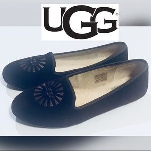 UGG Alloway Loafer Leather Slipper Flats like new